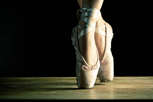 Tänzer en pointe, Nahaufnahme auf der Bühne – Foto