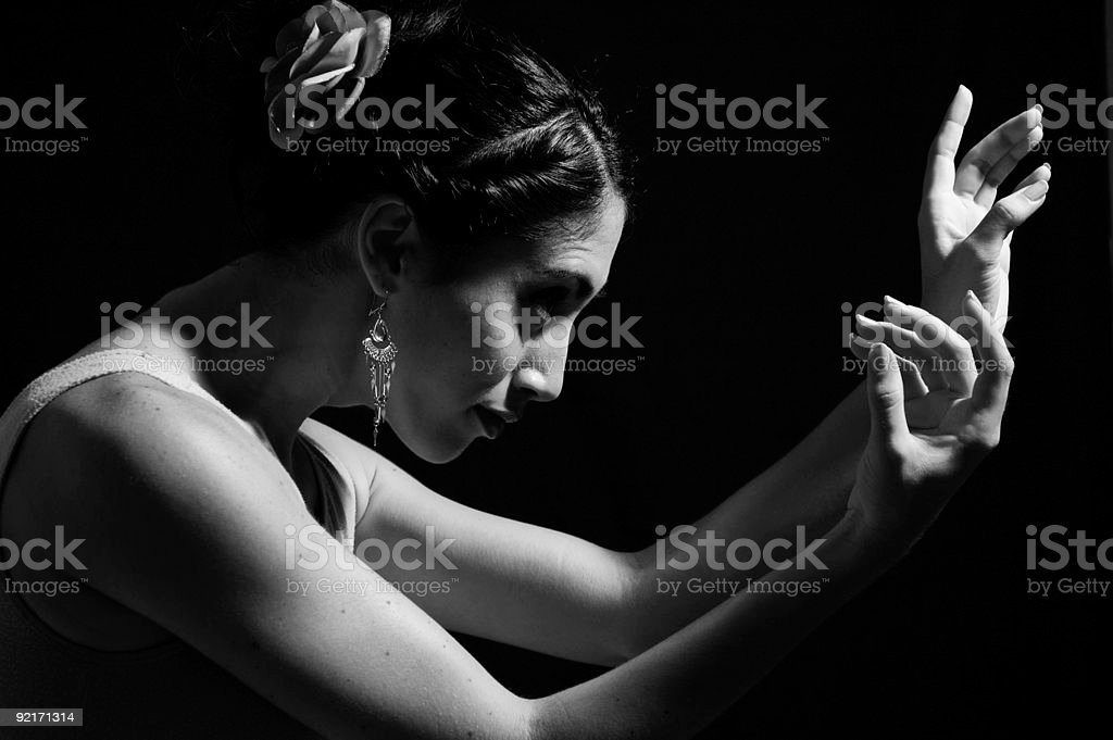 Dancer hands royalty-free stock photo