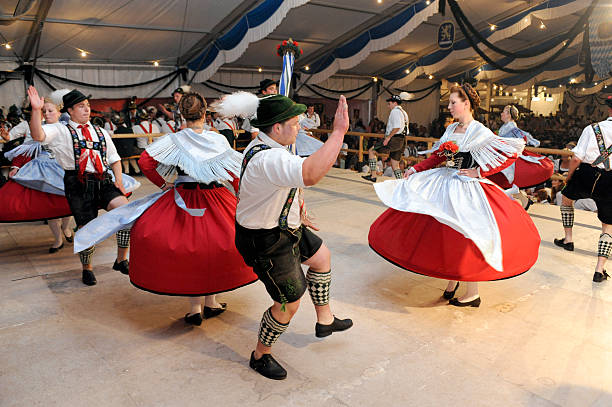 dancer in bavaria - german culture stock pictures, royalty-free photos & images