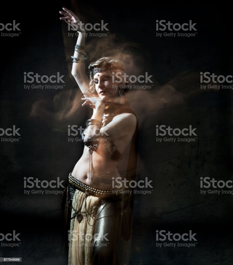 Dancer in motion stock photo