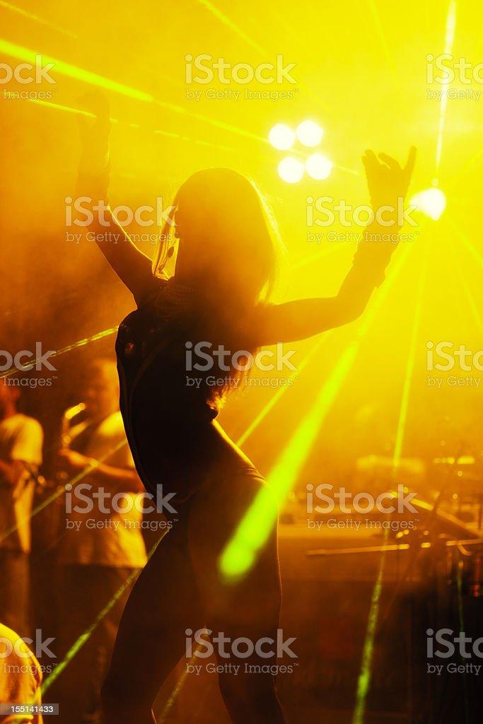Dancer In Nightclub stock photo