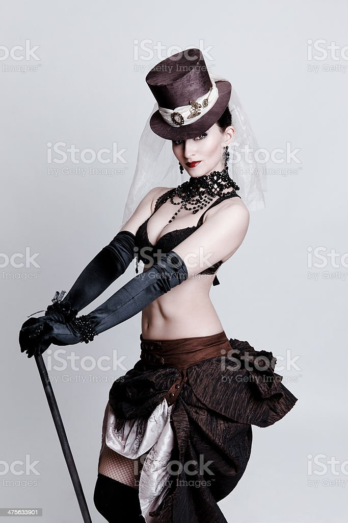 Dancer in original costume stock photo