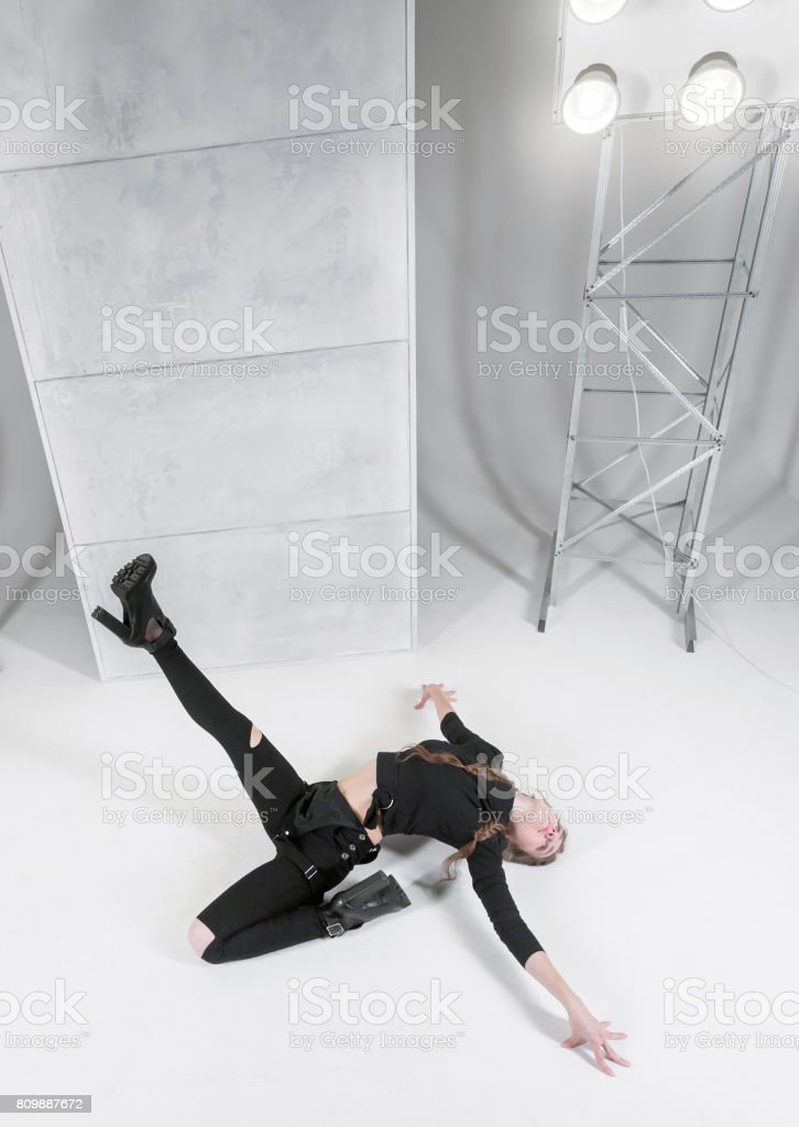 Dancer In Vogue Style stock photo