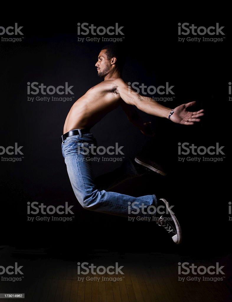 Dancer jumpin royalty-free stock photo