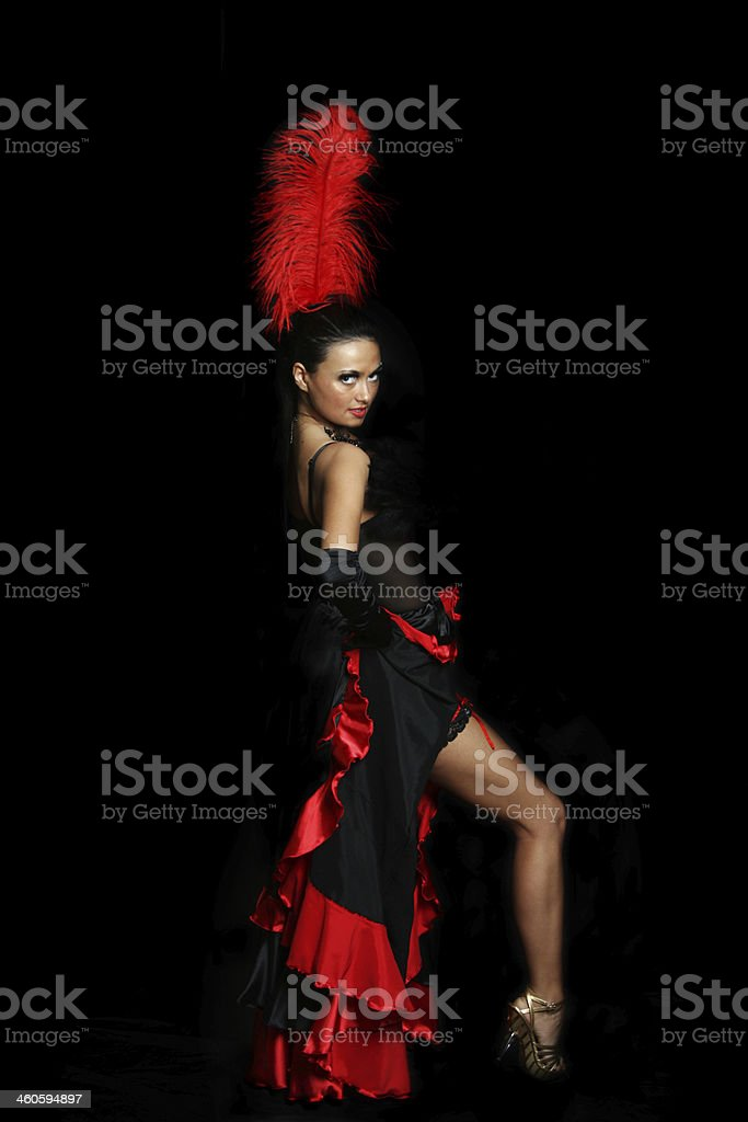 dancer moulin rouge stock photo