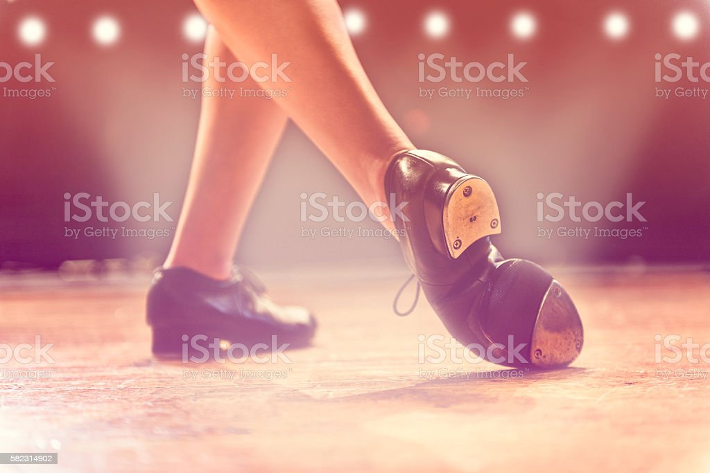 Dancer on Stage stock photo