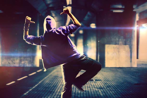 Dancer on urban background stock photo