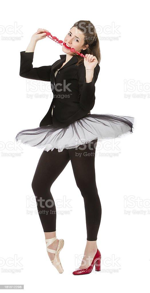 dancer or fashion woman royalty-free stock photo