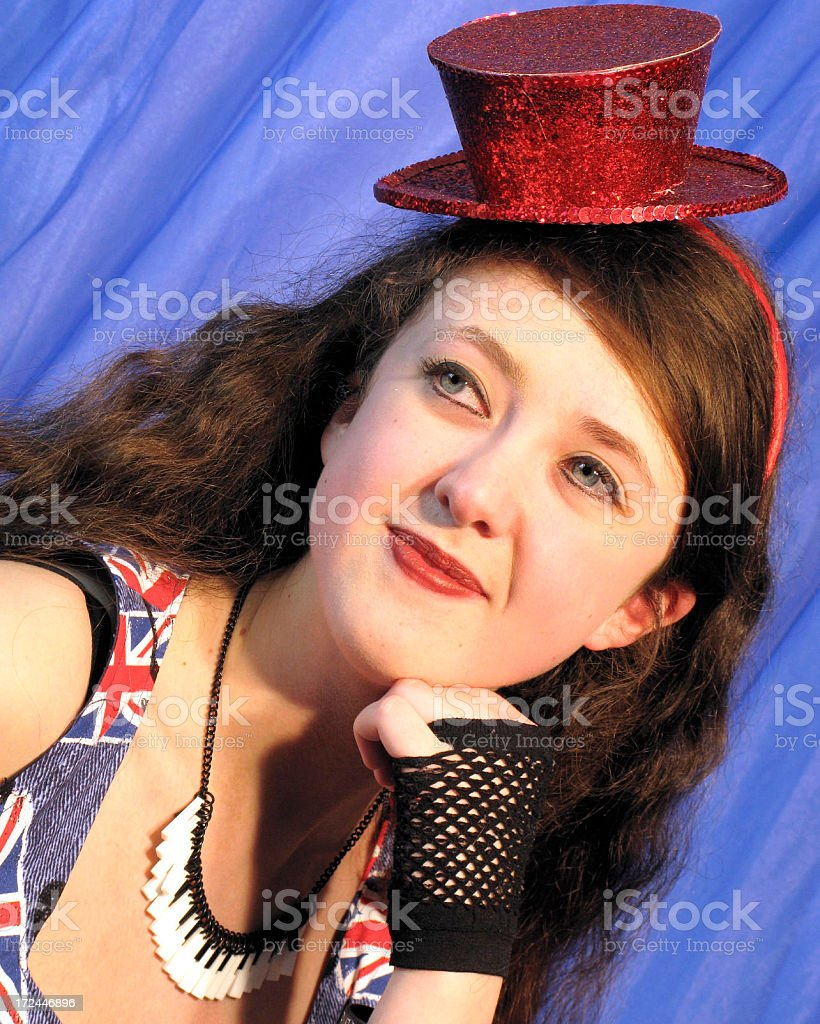 Dancer Wearing Red Hat stock photo