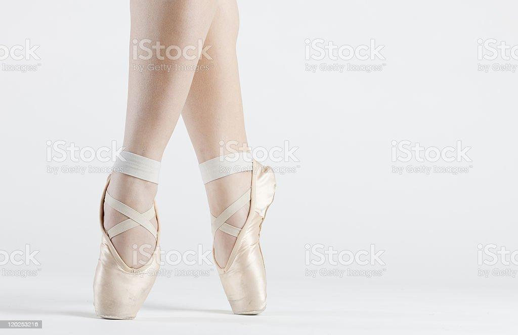 dancer's feet royalty-free stock photo