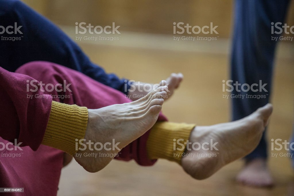 dancers foot stock photo