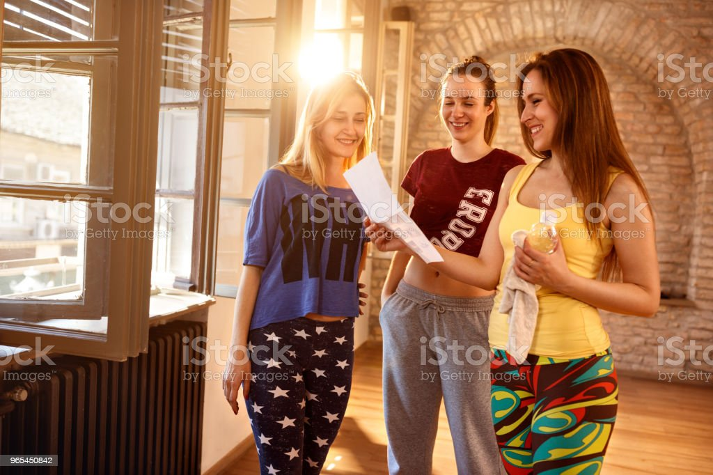 dancers making a plan of choreography royalty-free stock photo