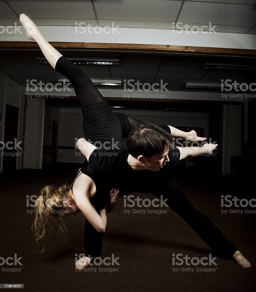 Dancers Pose royalty-free stock photo