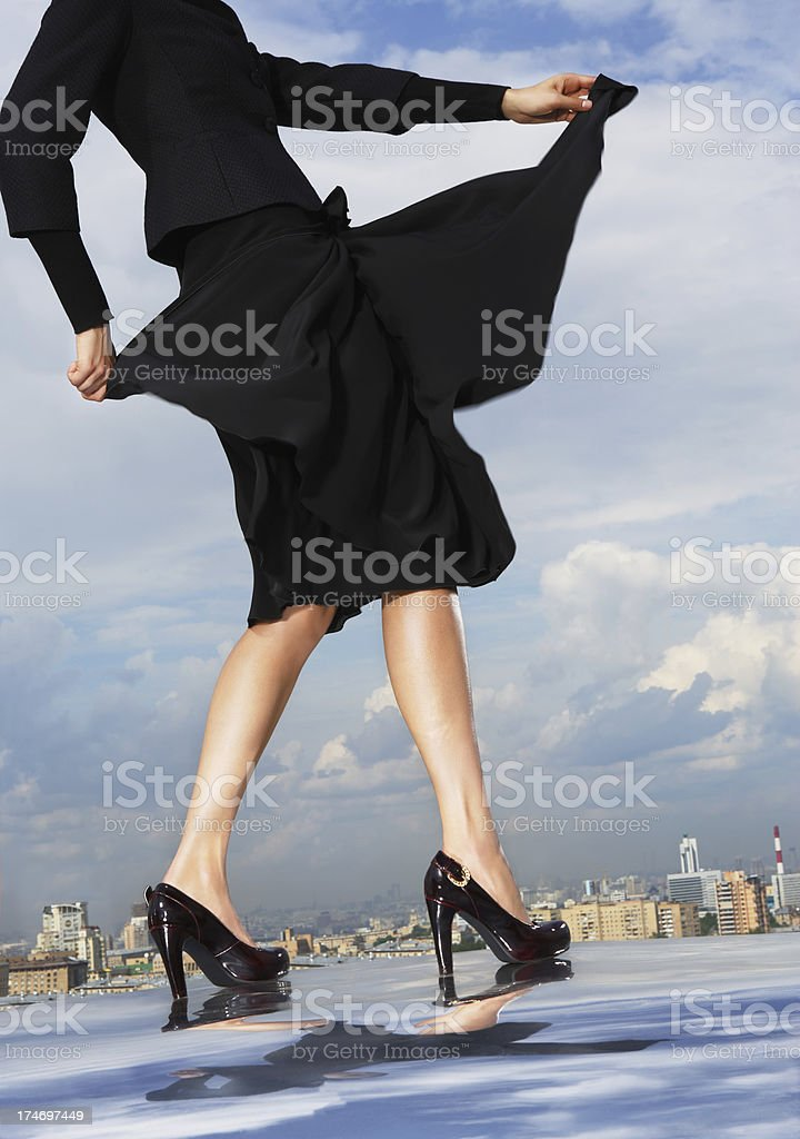 Dances on a roof royalty-free stock photo