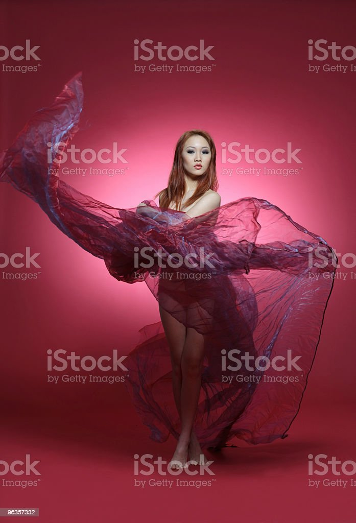 Dances with silk royalty-free stock photo