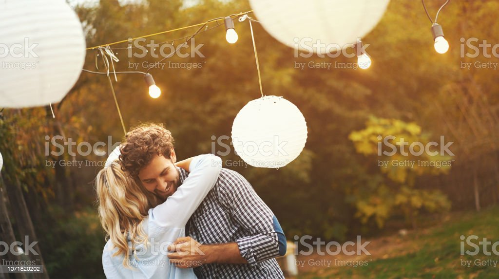 Dancing at a garden party. - Royalty-free 20-29 Years Stock Photo