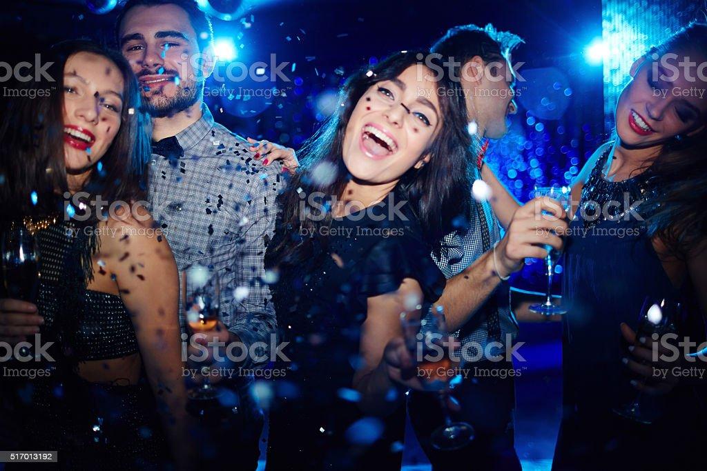 Dancing at party stock photo
