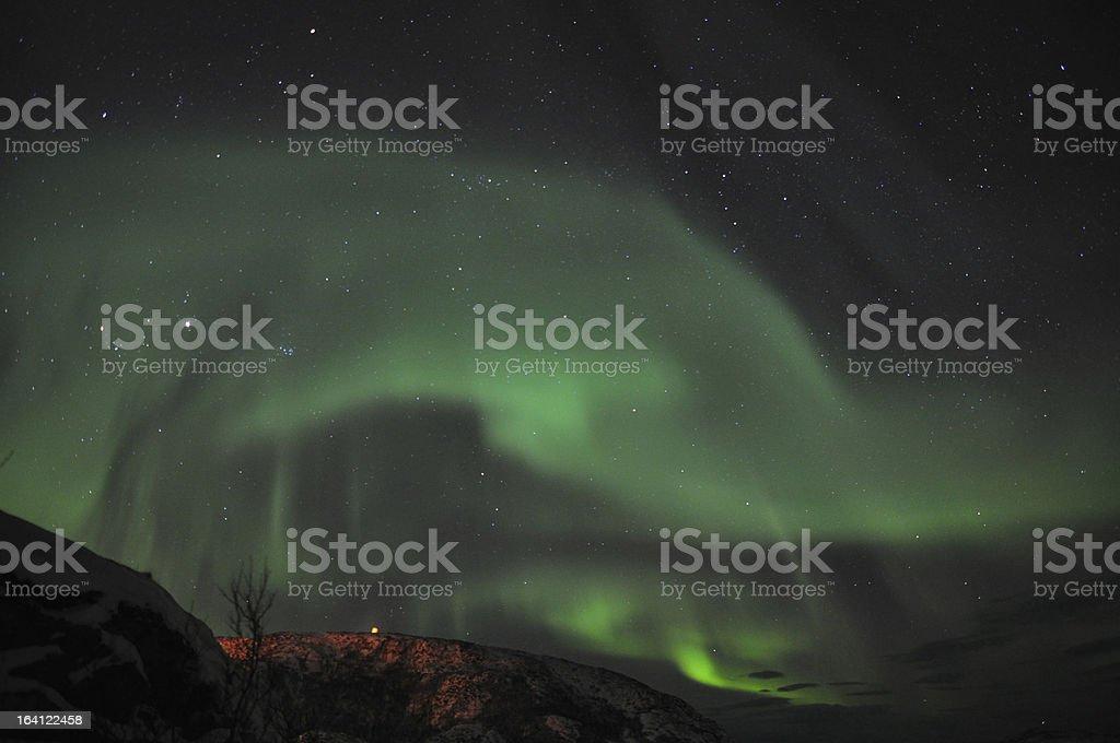 Dancing aurora royalty-free stock photo