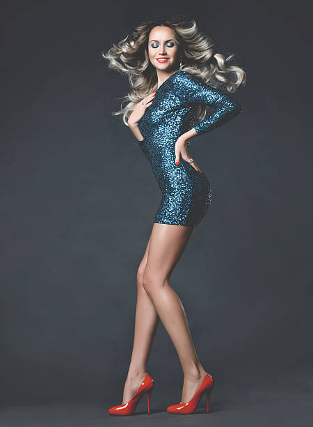 tanz wunderschöne lady - bein make up stock-fotos und bilder
