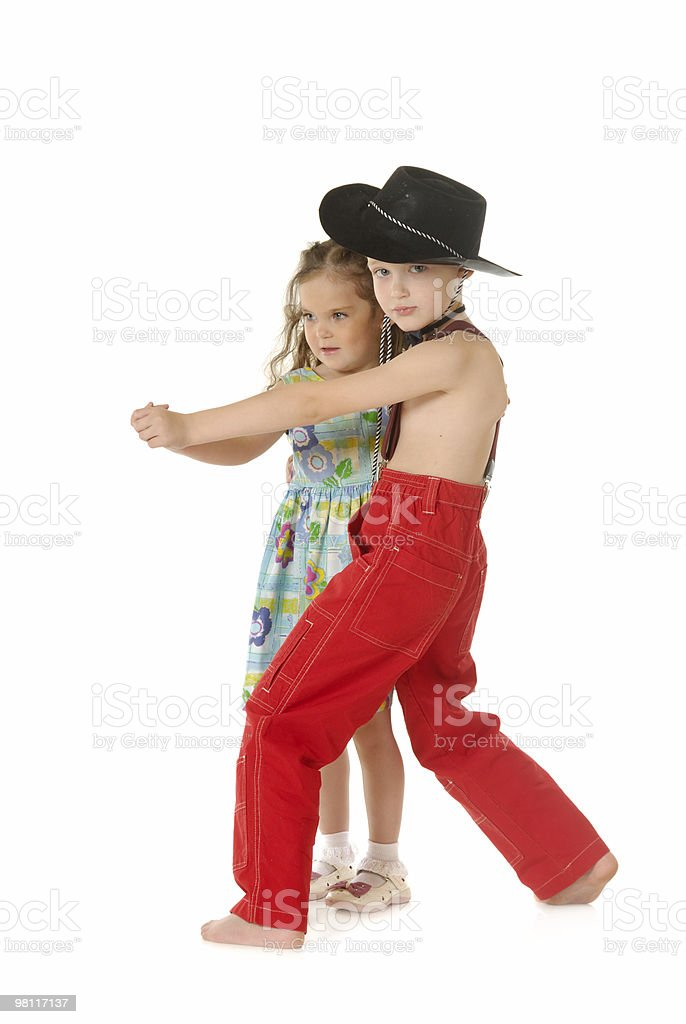 Dancing children royalty-free stock photo