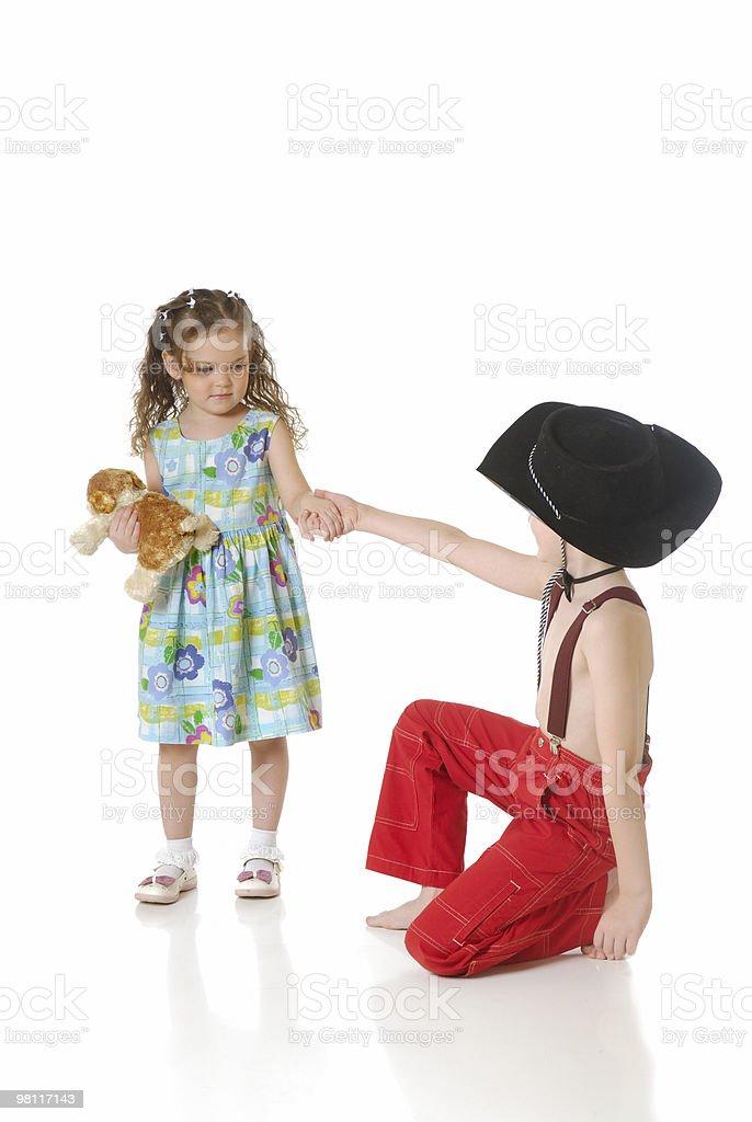 Dancing children royalty-free stock photo