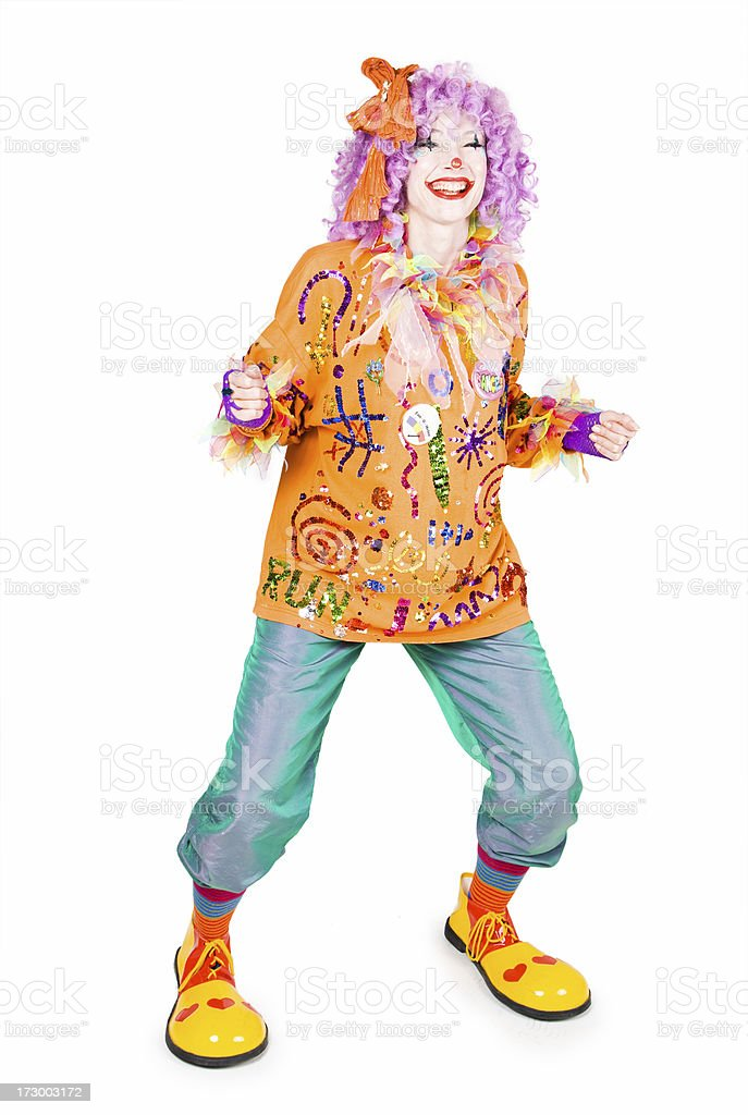 Dancing clown royalty-free stock photo