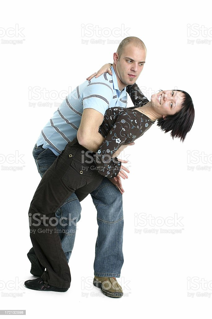 Dancing couple royalty-free stock photo
