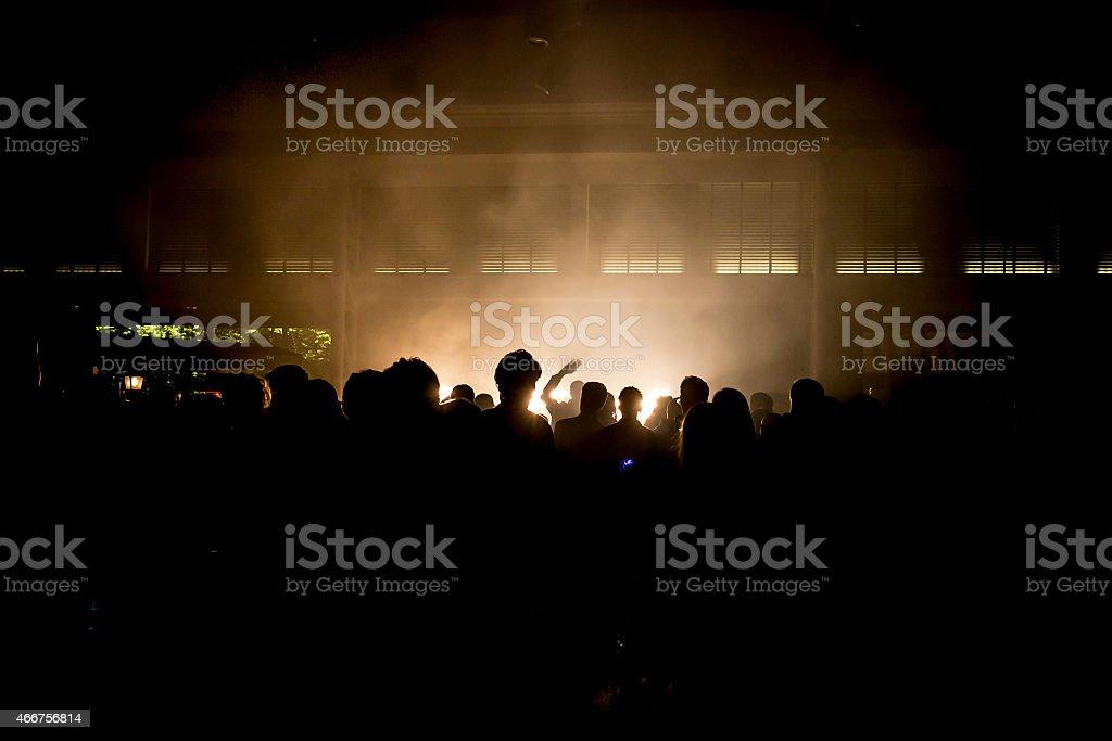 Dancing Crowd. stock photo