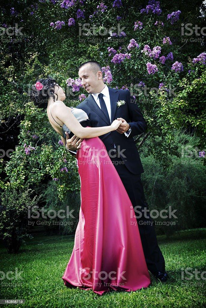 Dancing elegant couple royalty-free stock photo