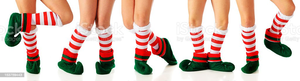 Dancing Elves stock photo