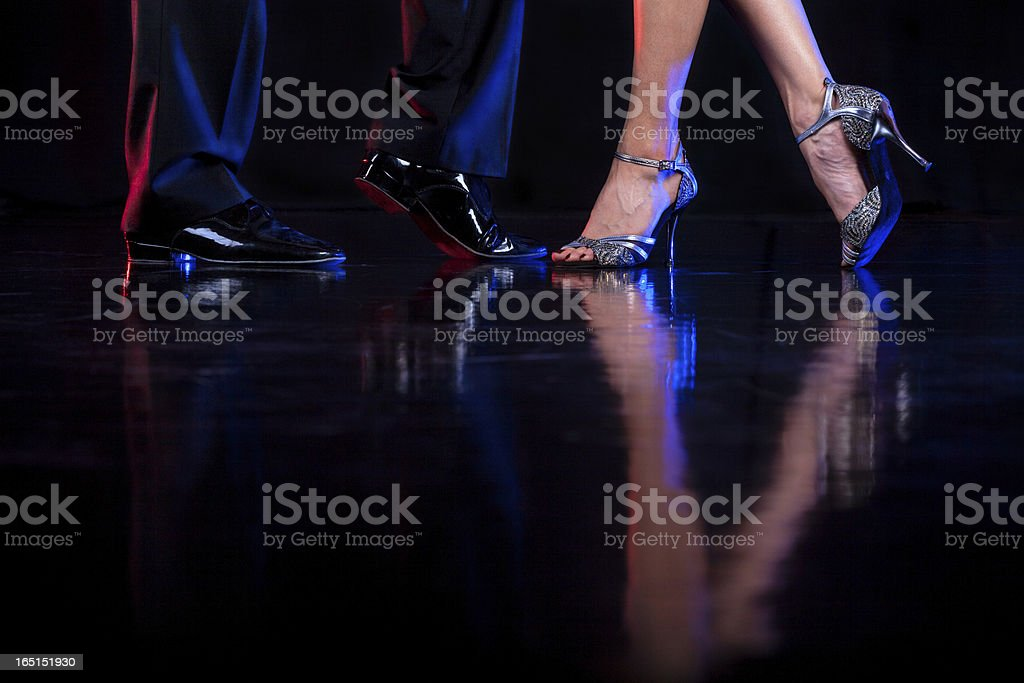 Dancing feet. stock photo