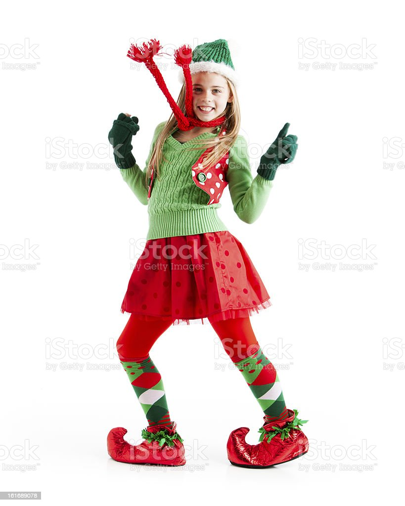 Dancing Female Christmas Elf Stock Photo & More Pictures of ...