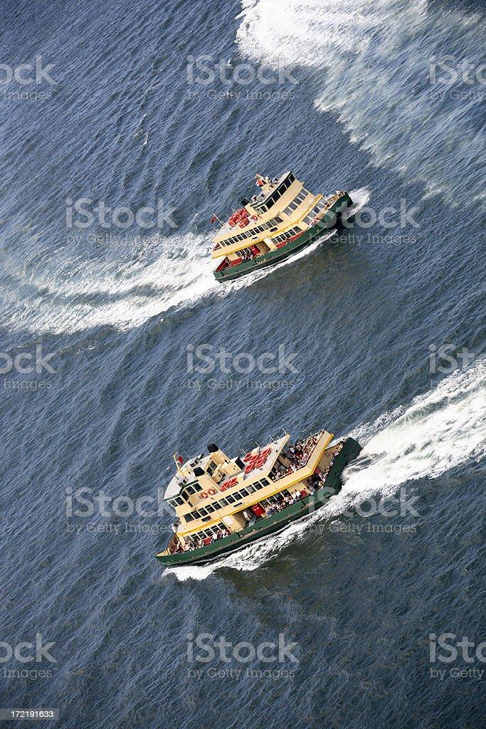 Dancing Ferries royalty-free stock photo