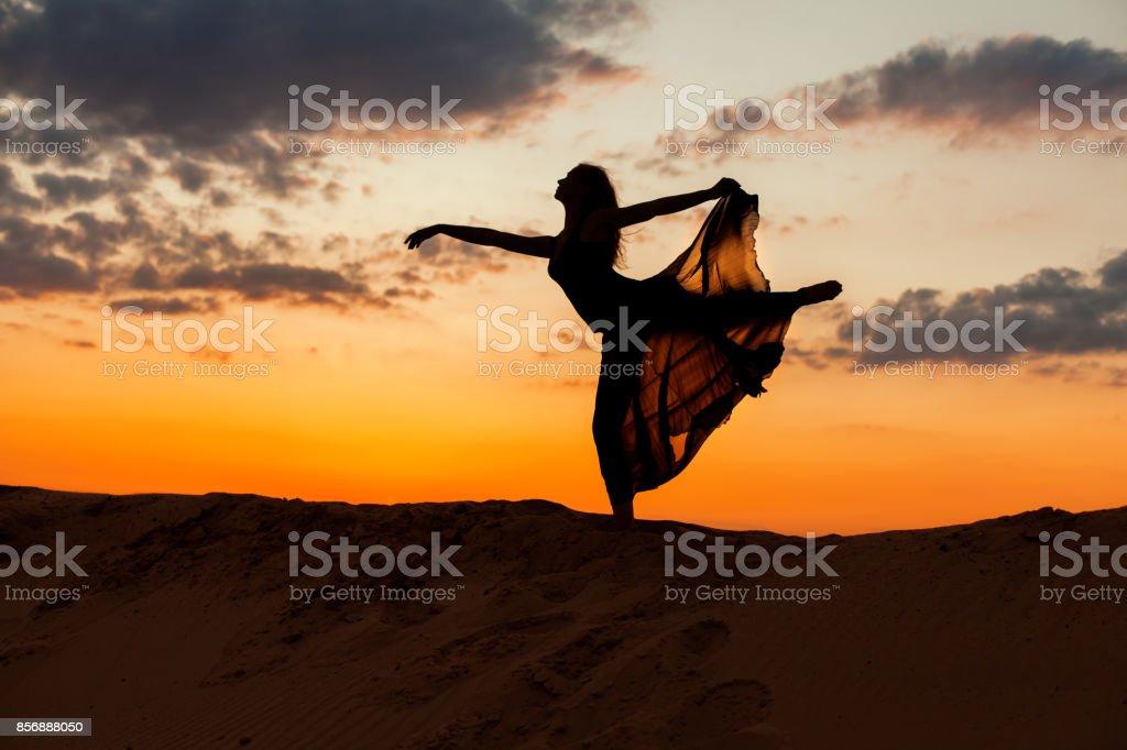 Dancing figure of a woman. stock photo