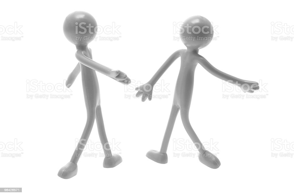 Dancing Figures royalty-free stock photo