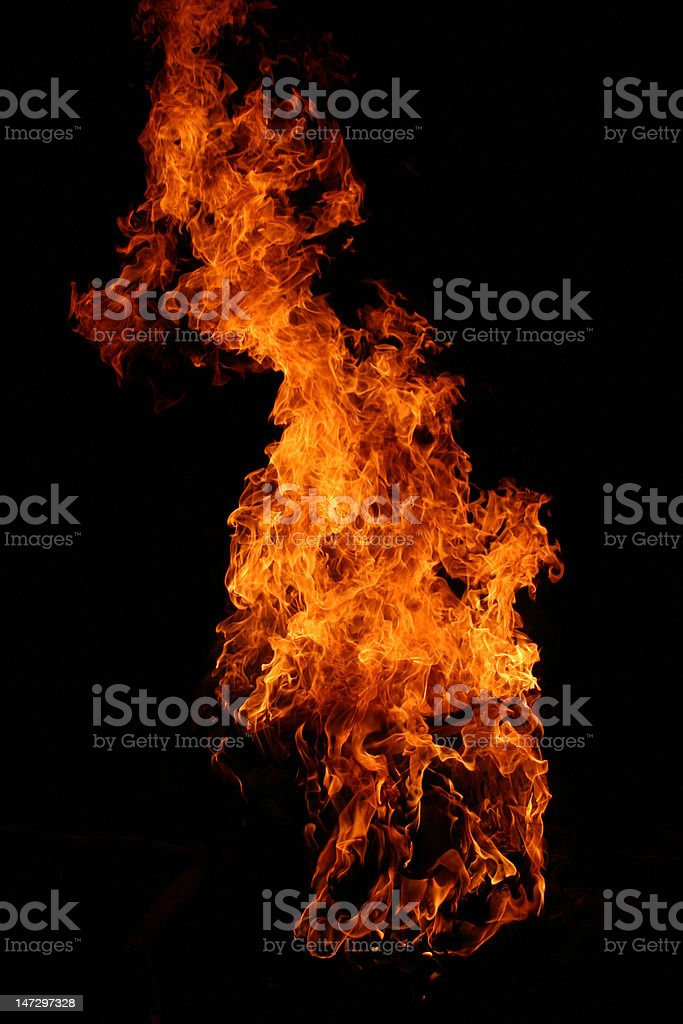 Dancing fire royalty-free stock photo