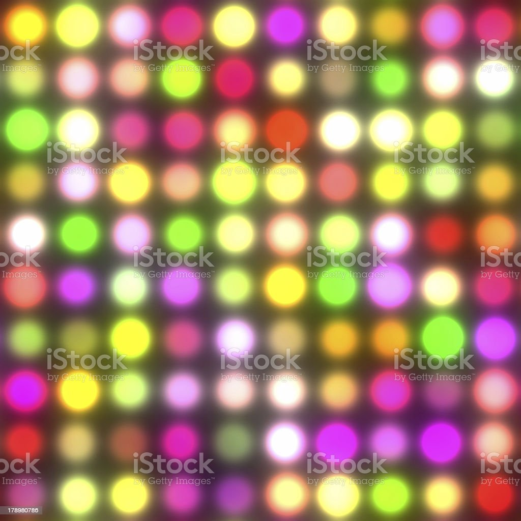 Dancing floor lights (Seamless Texture) stock photo