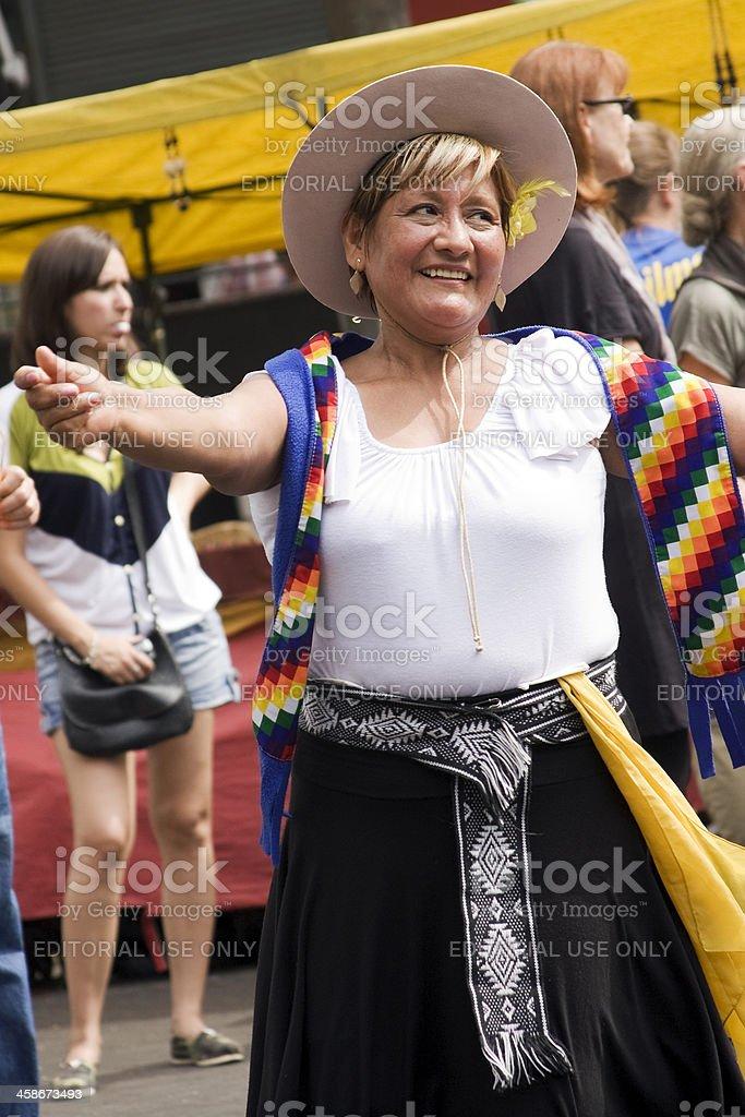 Dancing Folklore royalty-free stock photo