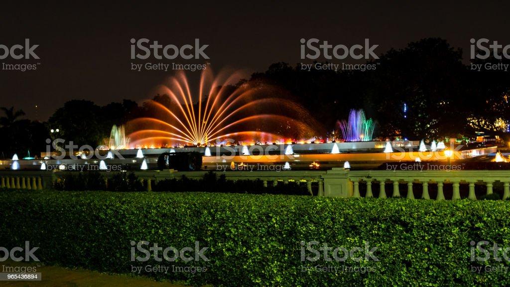 Dancing Fountain zbiór zdjęć royalty-free