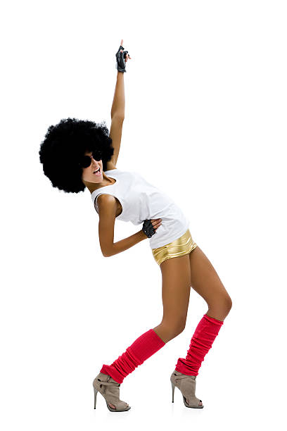 dancing girl - disco dancing stock photos and pictures