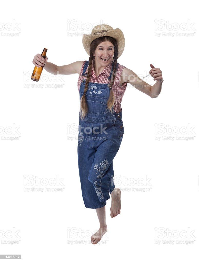 Dancing Happy Redneck Woman stock photo