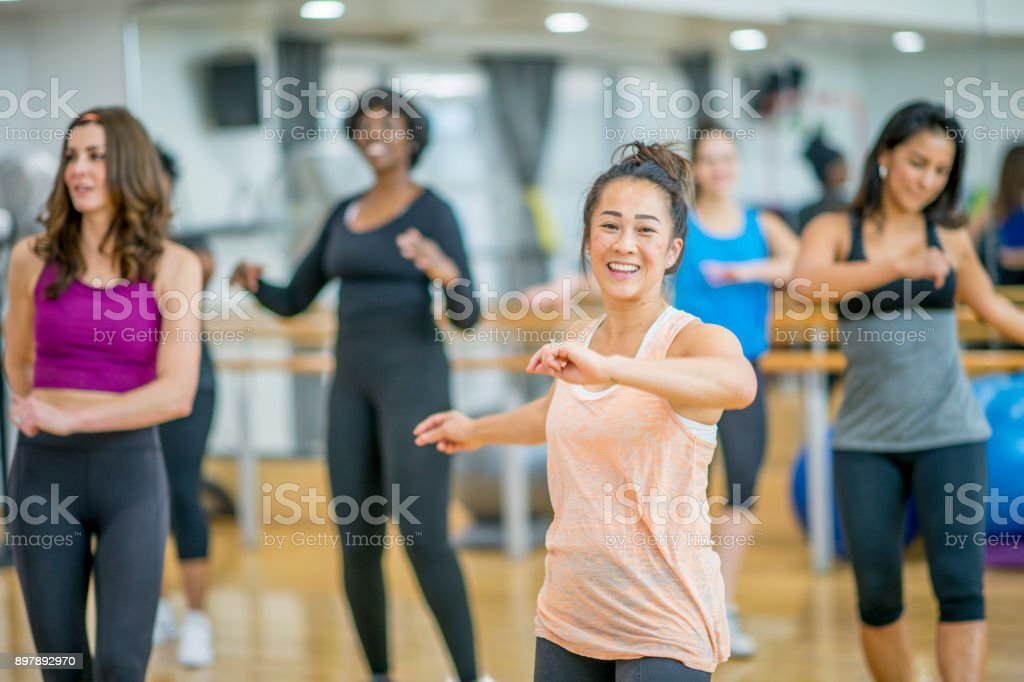 Dancing In A Group stock photo