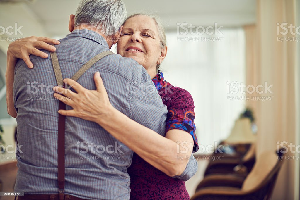 Dancing in embrace stock photo