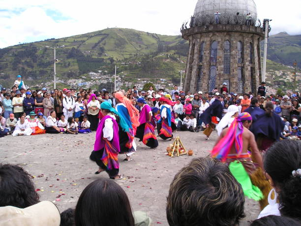 dancing in quito - mcdermp stock pictures, royalty-free photos & images