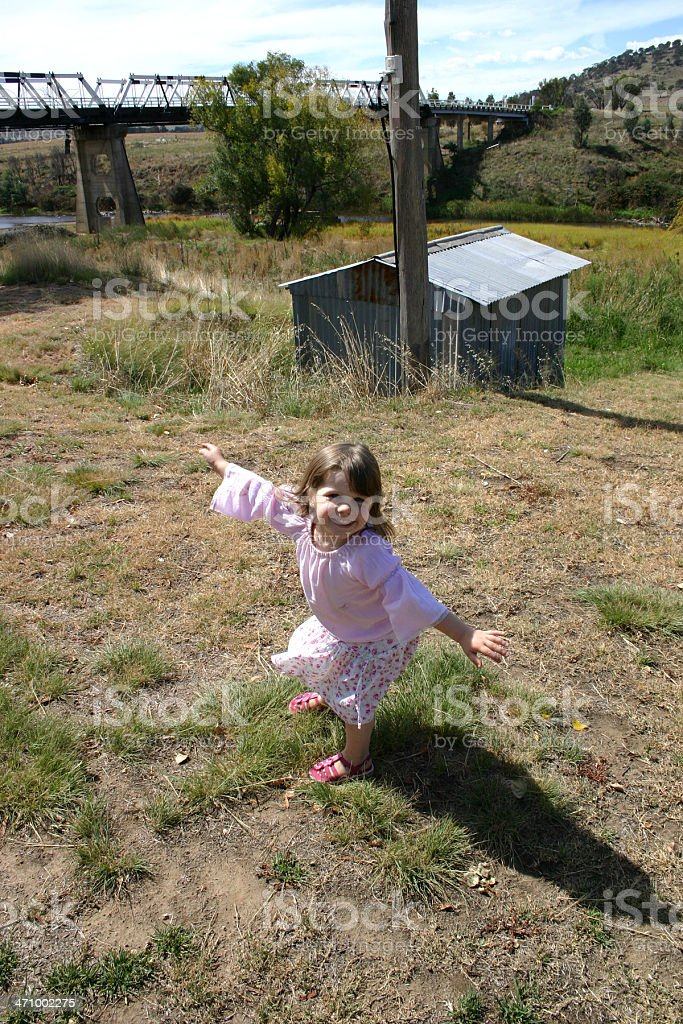 Dancing in the bush royalty-free stock photo