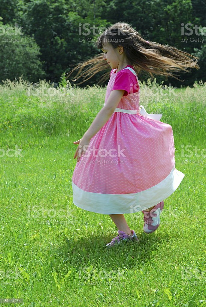 Dancing in the field royalty-free stock photo