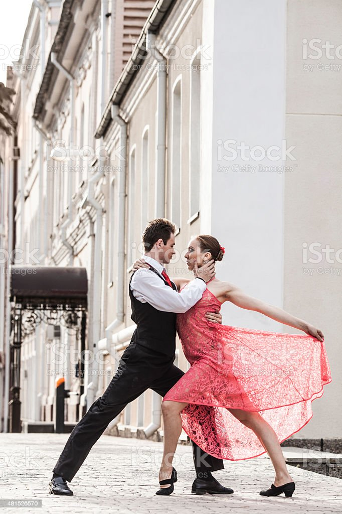 Dancing in the streets stock photo
