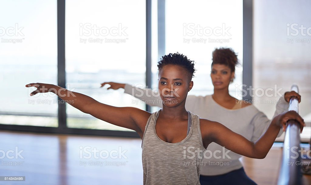 Dancing in unison stock photo