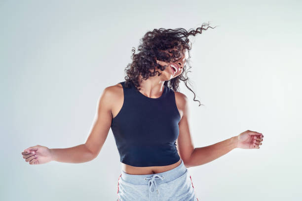 Dancing is just another form of self expression stock photo