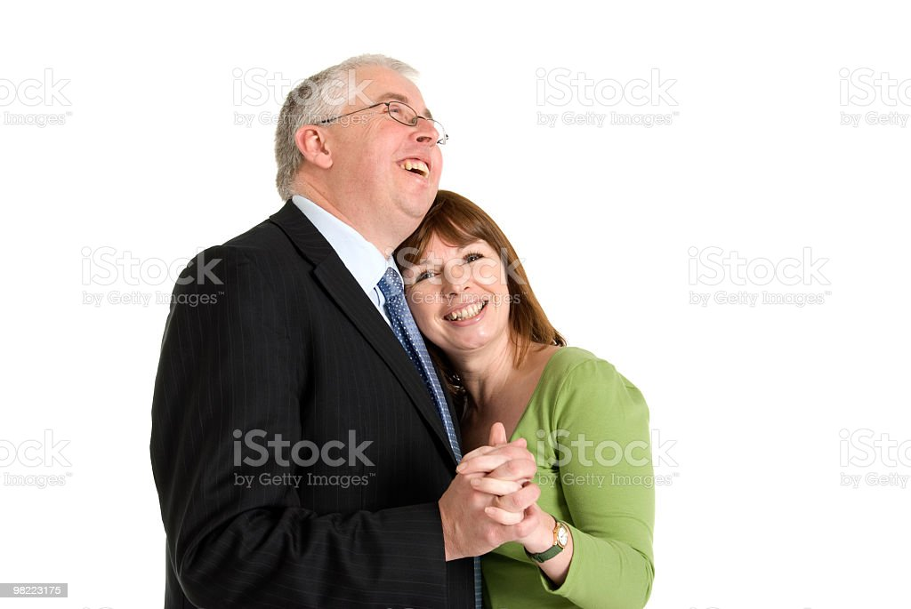Dancing Laughing Couple royalty-free stock photo